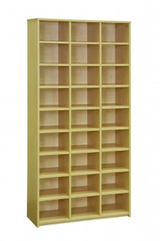 Pigeon Hole Bookcase Curly Birch